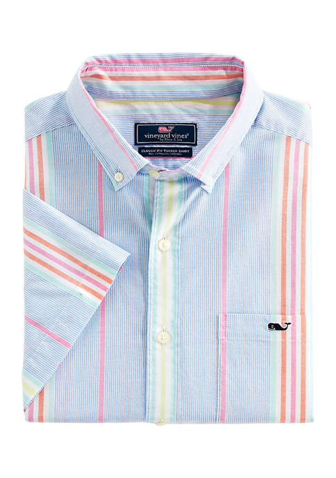 Milou Stripe Short Sleeve Button-Down Shirt