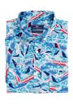 Jet Set Short-Sleeve Button-Down Shirt