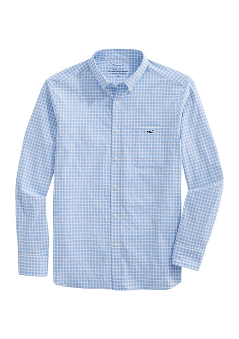 Classic Fit Gingham On-The-Go Performance Button-Down Shirt