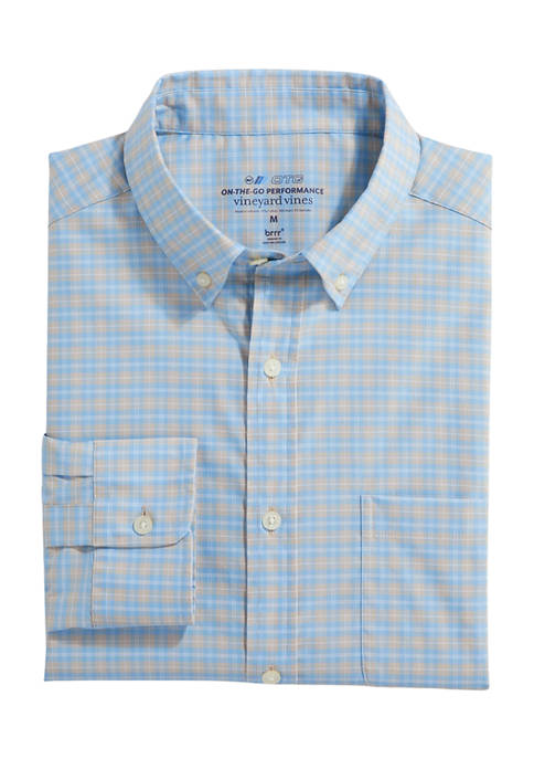 Vineyard Vines Classic Fit Check On-The-Go Shirt