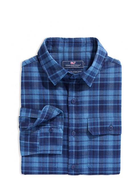 Classic Fit Indigo Plaid Dockman Shirt