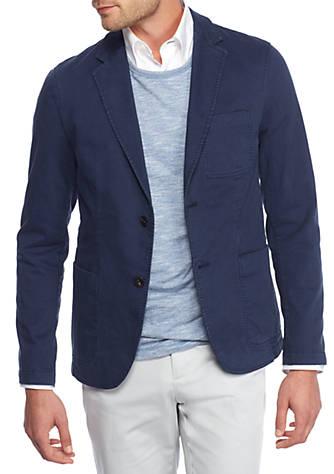 Mens Garment Dyed Blazer Jacket