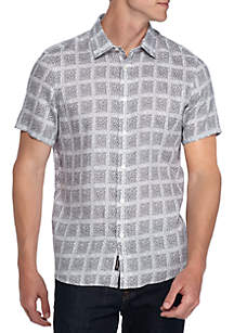 Short Sleeve Paxton Print Button Down Shirt