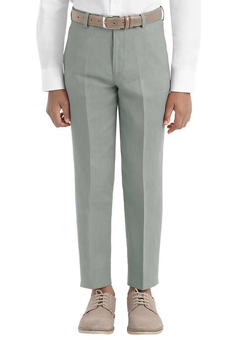 Boys 8-20 Plain Sage Linen Pants