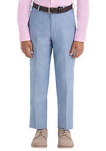 Lauren Ralph Lauren Boys 8-20 Blue Chambray Cotton Pants