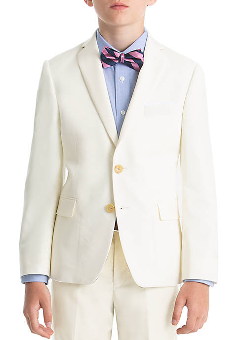 Boys 8-20 Off-White Wool Natural Stretch Jacket