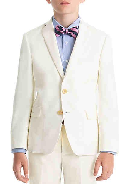 9782984e Lauren Ralph Lauren Boys 8-20 Off-White Wool Natural Stretch Jacket ...