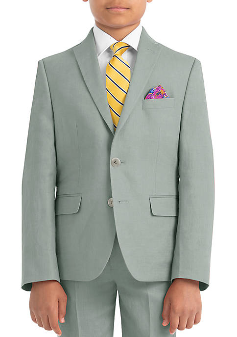Boys 8-20 Sage Linen Jacket
