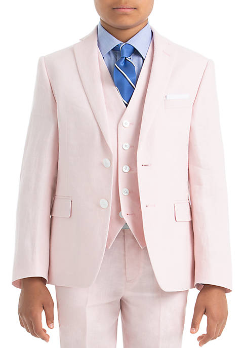 Boys 8-20 Pink Linen Jacket