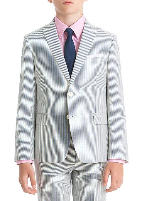 Lauren Ralph Lauren Boys 8-20 Blue Stripe Cotton