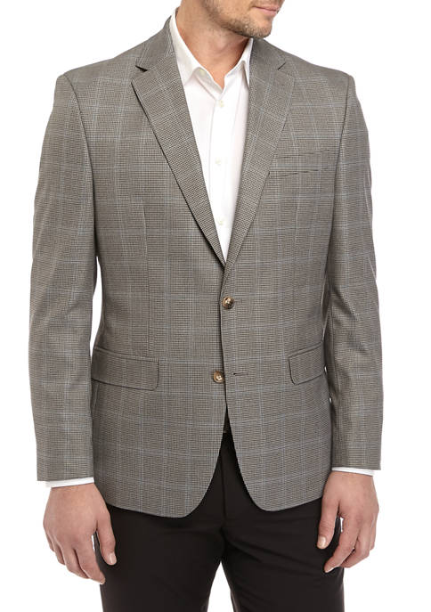 Chaps Mens Grey Houndstooth Check Sport Coat
