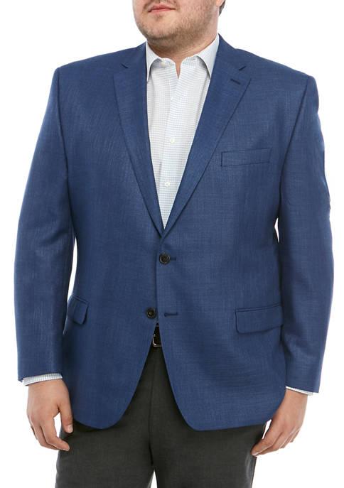 Mens Blue Plaid Sport Coat