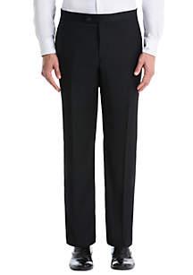 Lauren Ralph Lauren Black Plain Wool Straight Pants