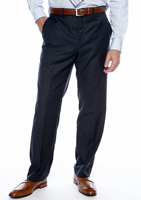 Navy Windowpane Suit Separate Pants