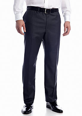 Big & Tall Ultraflex Flat Front Suit Separate Pants