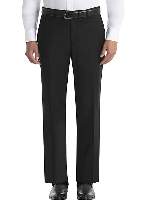 Lauren Ralph Lauren Plain Black Wool Straight Leg