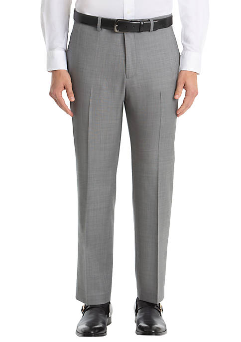 Lauren Ralph Lauren Gray Shark Wool Straight Pants