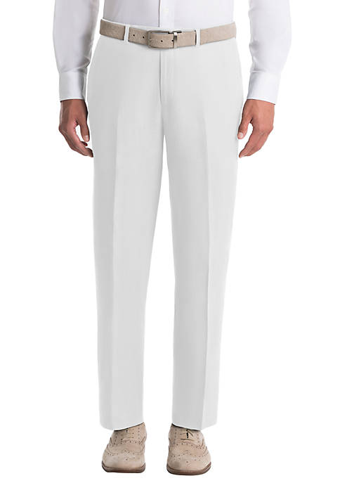 Lauren Ralph Lauren Plain White Linen Pants