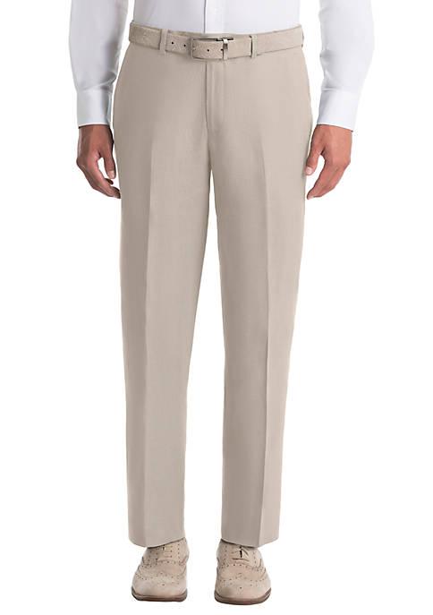 Tan Plain Linen Pants