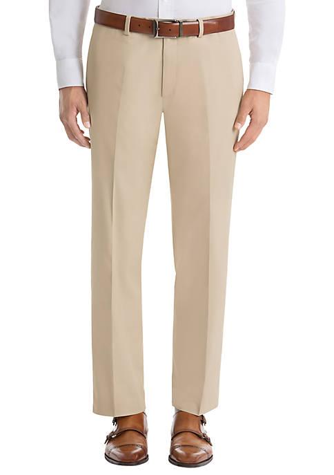 Solid Tan Cotton Suit Separate Pants