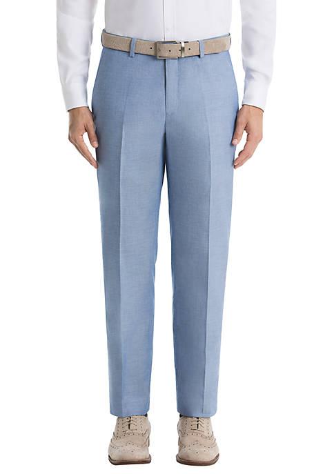 Lauren Ralph Lauren Blue Chambray Cotton Pants