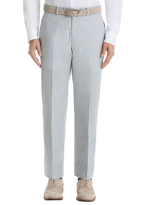 Lauren Ralph Lauren Blue Stripe Cotton Pants