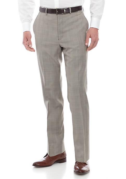 Tan Plaid Blue Pants