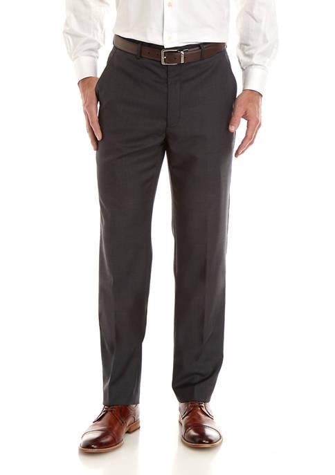 Lauren Ralph Lauren Classic Fit Charcoal Solid Pants