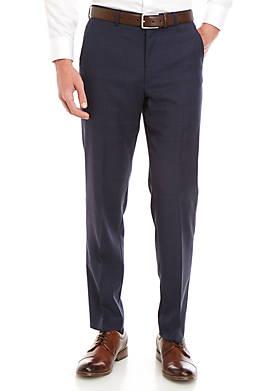 Blue Plaid Dress Pants
