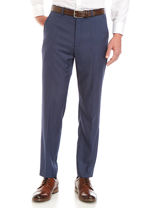 Lauren Ralph Lauren Blue Tic Dress Pants