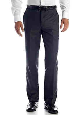22377d9b Lauren Ralph Lauren Classic Fit Flat Front Charcoal Pants ...