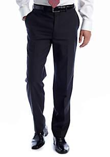 Black Elvan Flat  Front Pants