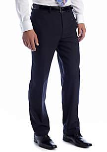 Navy Elvan Flat Front Pant