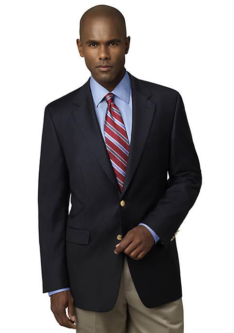Big & Tall Portly Navy Comfort Blazer
