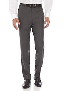 Brown Tic Stretch Dress Pants