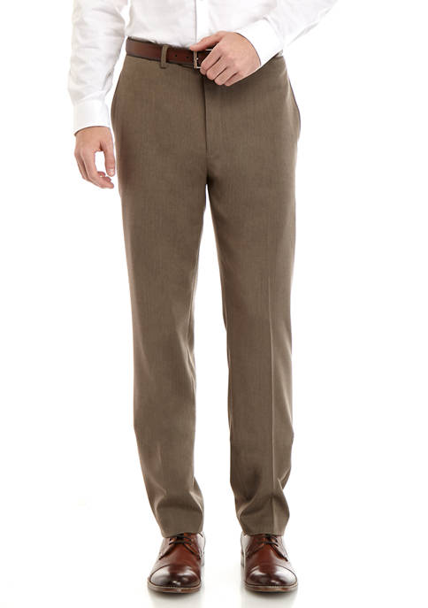 Lauren Ralph Lauren Mens Tan/Brown Herringbone Pants