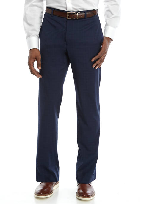 Lauren Ralph Lauren Mens Blue Grid Pane Stretch