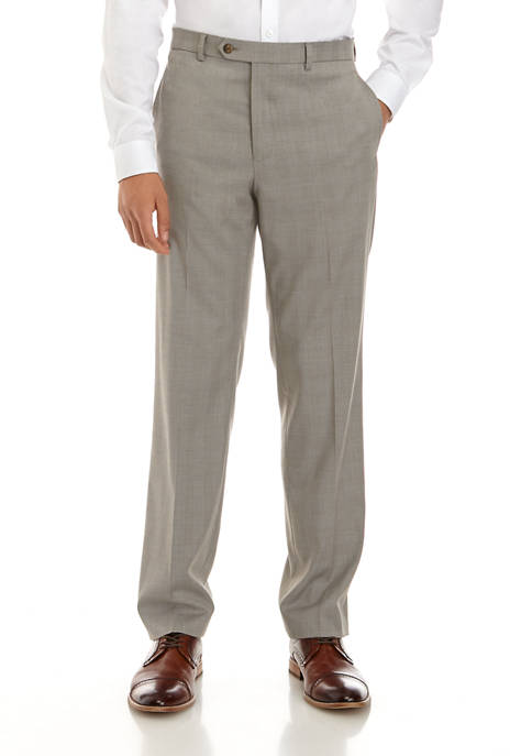 Lauren Ralph Lauren Mens Tan Plaid Stretch Pants