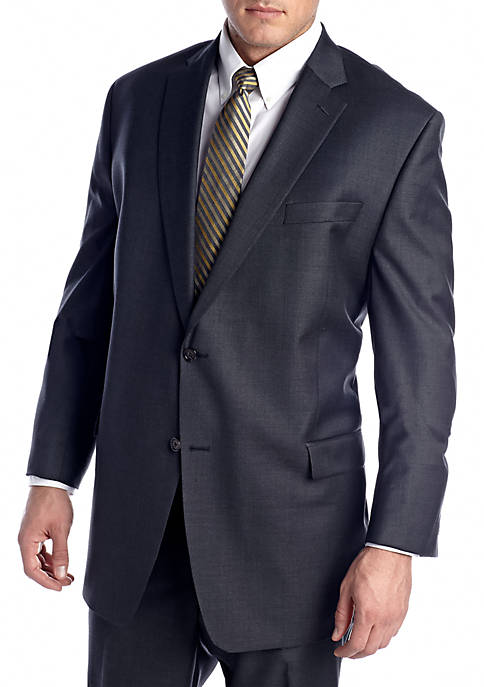 Big & Tall Charcoal Suit Separate Coat