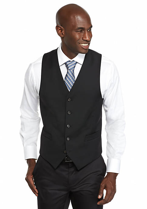 Lauren Ralph Lauren Classic-Fit Black Suit Separate Vest