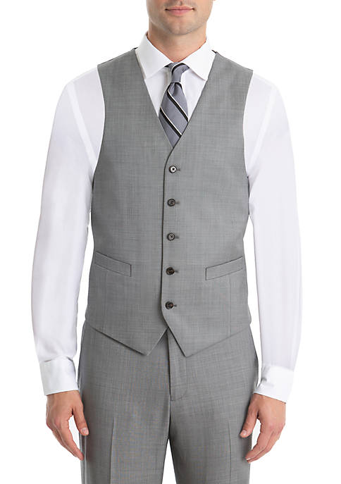 Lauren Ralph Lauren Gray Shark Wool Vest