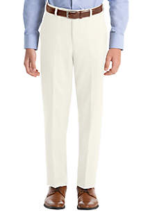Lauren Ralph Lauren Boys 4-7 Off White Twill Wool Straight Pants