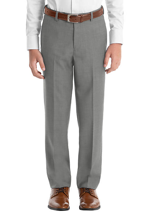 Boys 4-7 Light Gray Sharkskin Straight Pants