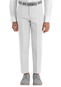 Lauren Ralph Lauren Boys 4-7 White Plain Linen Pants