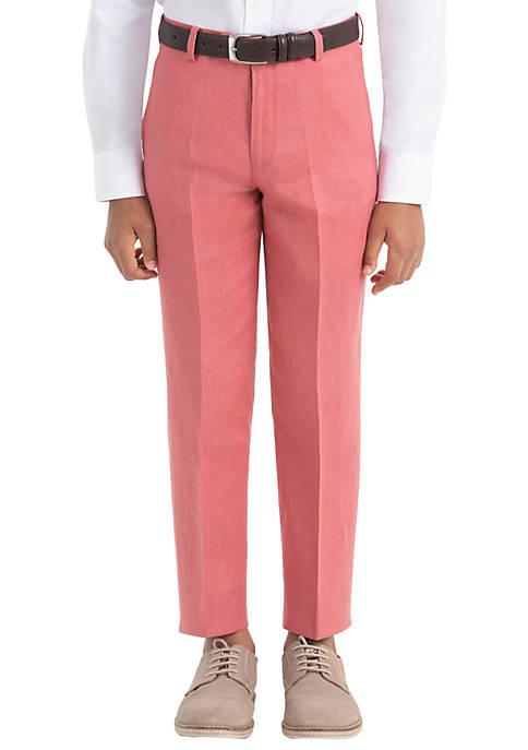 Lauren Ralph Lauren Boys 4-7 Red Plain Linen