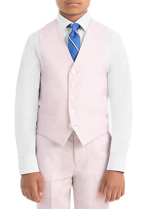 Boys 4-7 Pink Linen Vest