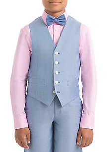 Lauren Ralph Lauren Boys 4-7 Light Blue Chambray Cotton Vest
