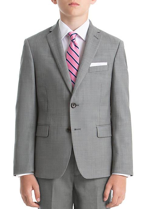 Boys 4-7 Gray Wool Straight Coat