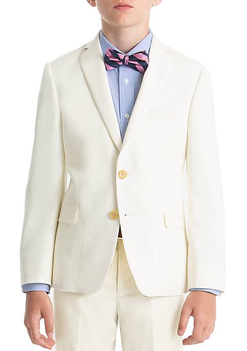 Boys 4-7 Off White Wool Straight Coat