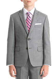 Lauren Ralph Lauren Boys 4-7 Light Gray Shark Wool Straight Coat
